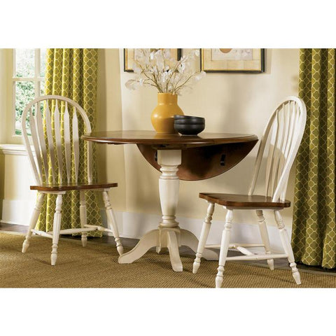 Liberty Furniture Low Country 3 Piece Drop Leaf Set in Linen Sand with Suntan Bronze