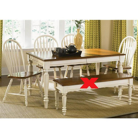Liberty Furniture Low Country 5 Piece Rectangular Table Set in Linen Sand with Suntan Bronze