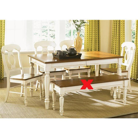 Liberty Furniture Low Country Opt 5 Piece Rectangular Table Set in Linen Sand with Suntan Bronze