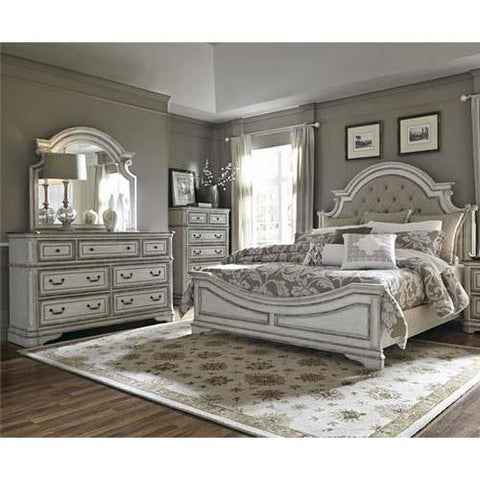 Liberty Furniture Magnolia Manor 3 Piece Upholstered Bedroom Set