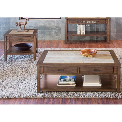 Liberty Furniture Mesa Valley 2 Piece Coffee Table Set in Tobacco