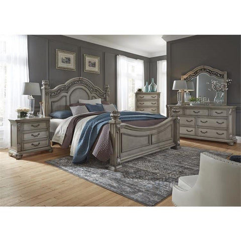 Liberty Furniture Messina Estates 4 Piece Poster Bedroom Set