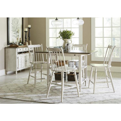 Liberty Furniture Oak Hill 5 Piece Gathering Table Set