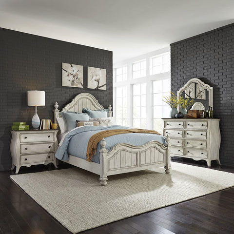 Liberty Furniture Parisian Marketplace 3 Piece Queen Poster Bedrom Set w/Nightstand