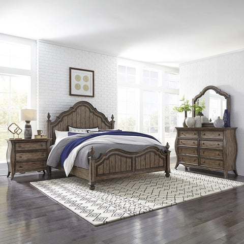 Liberty Furniture Parisian Marketplace 3 Piece Queen Poster Bedroom Set w/Nightstand