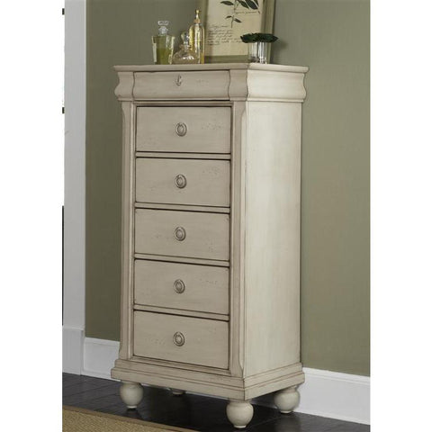 Liberty Furniture Rustic Traditions Lingerie Chest in Rustic White Finish