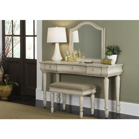 Liberty Furniture Rustic Traditions Vanity in Rustic White Finish