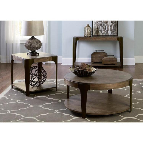 Liberty Furniture Sapphire Lakes 3 Piece Round Coffee Table Set