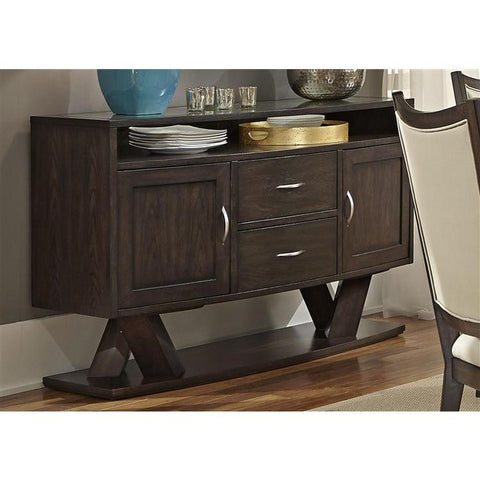 Liberty Furniture Southpark Server in Charcoal Finsih