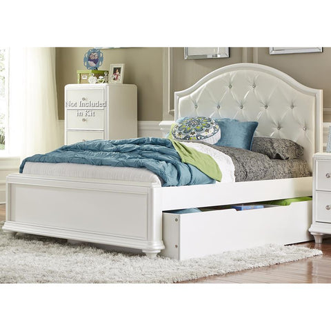 Liberty Furniture Stardust Twin Trundle Bed in Iridescent White