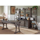 Liberty Furniture Stone Brook 2 Piece Home Office Suites in Rustic Saddle