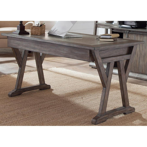 Liberty Furniture Stone Brook Laptop Desk in Rustic Saddle