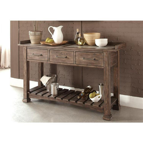 Liberty Furniture Stone Brook Server in Rustic Saddle Finish