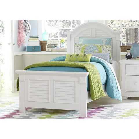 Liberty Furniture Summer House Panel Bed in Oyster White Finish