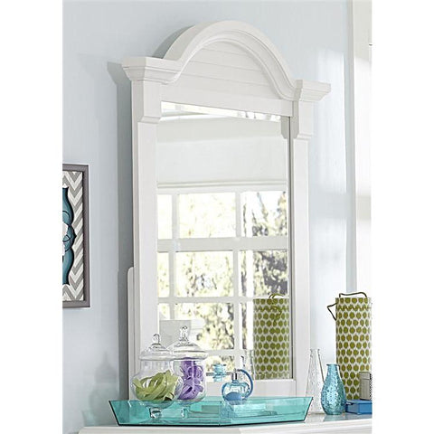 Liberty Furniture Summer House Small Mirror in Oyster White Finish