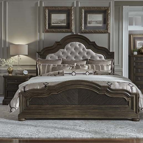 Liberty Furniture Valley Springs 2 Piece Upholstered Headboard Bedroom Set