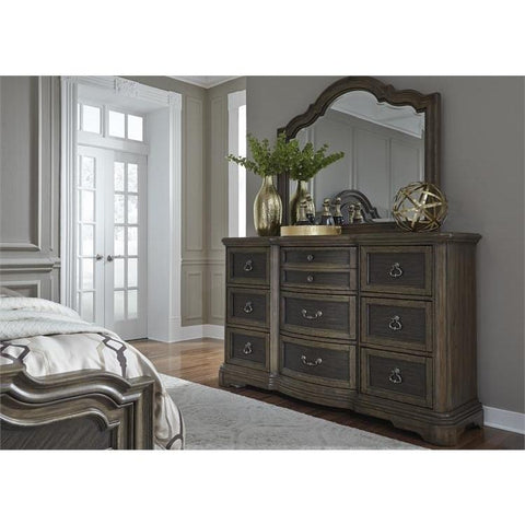 Liberty Furniture Valley Springs 9 Drawer Dresser & Mirror