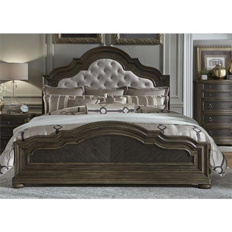 Liberty Furniture Valley Springs Upholstered Headboard Bed