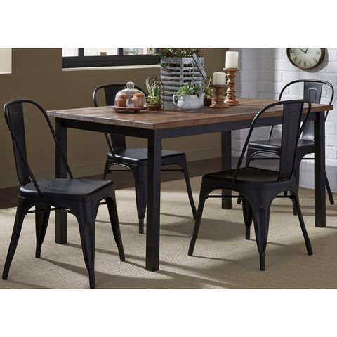 Liberty Furniture Vintage 5 Piece Rectangular Dining Room Set w/Bow Back Chairs
