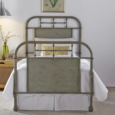 Liberty Furniture Vintage Series Metal Bed - Green