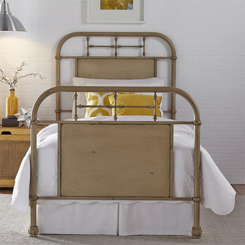Liberty Furniture Vintage Series Metal Bed - Vintage White