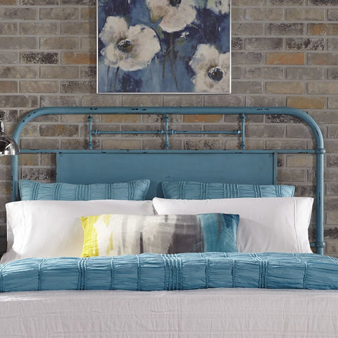 Liberty Furniture Vintage Series Metal Headboard in Blue