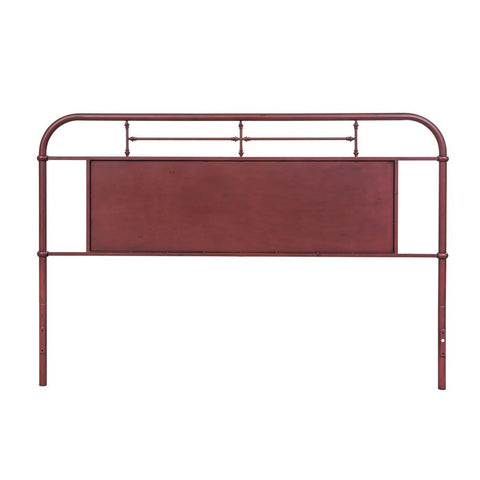 Liberty Furniture Vintage Series Metal Headboard in Red
