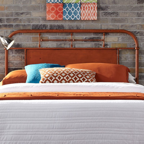 Liberty Furniture Vintage Series Queen Metal Headboard in Orange