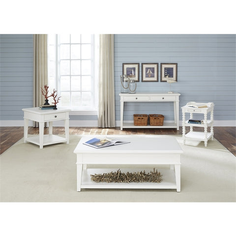Liberty Harbor View Four Piece Occasional Set In Linen