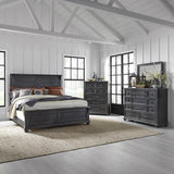 Liberty Harvest Home King California Panel Bed, Dresser & Mirror, Chest