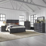 Liberty Harvest Home King Panel Bed, Dresser & Mirror, Chest, N/S