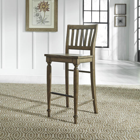 Liberty Harvest Home Slat Back Bar Stool