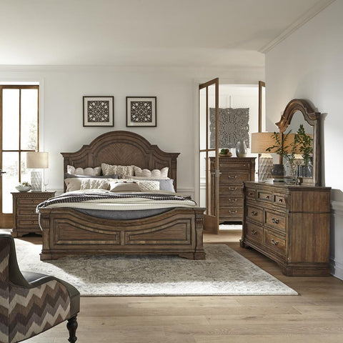 Liberty Haven Hall King Panel Bed, Dresser & Mirror, Chest, N/S