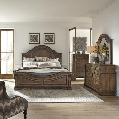 Liberty Haven Hall King Panel Bed, Dresser & Mirror, Chest