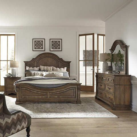 Liberty Haven Hall King Panel Bed, Dresser & Mirror, N/S