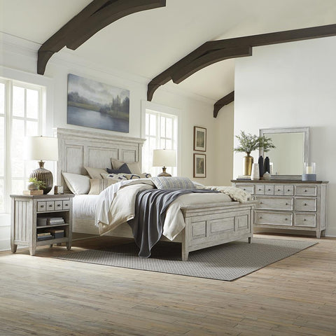 Liberty Heartland King Panel Bed, Dresser & Mirror, N/S