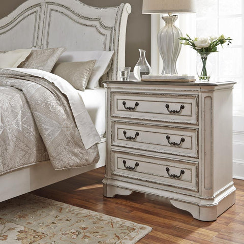 Liberty Magnolia Manor 3 Drawer Bedside Chest w/ Charging Station