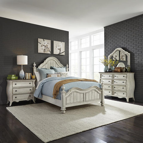 Liberty Parisian Marketplace King Poster Bed, Dresser & Mirror, N/S