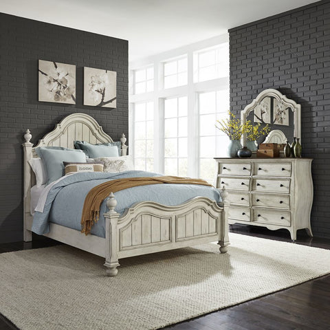 Liberty Parisian Marketplace Queen Poster Bed, Dresser & Mirror, Chest