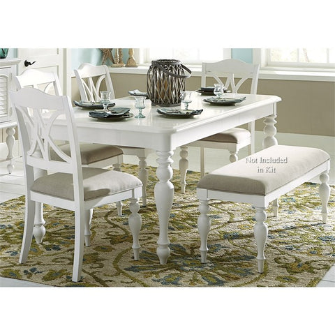 Liberty Summer House I 5 Piece Rectangular Dining Set In Oyster White