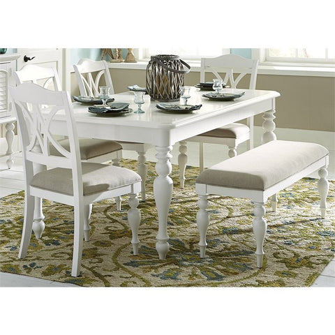 Liberty Summer House I 6 Piece Rectangular Dining Set In Oyster White