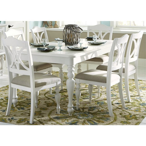 Liberty Summer House I 7 Piece Rectangular Dining Set In Oyster White