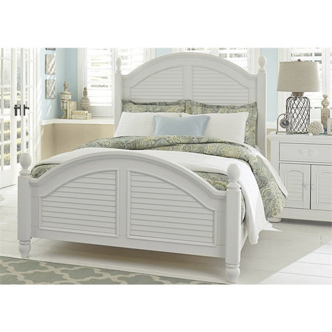 Liberty Summer House I Poster Bed In Oyster White