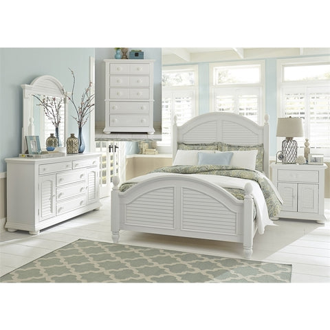 Liberty Summer House I Poster Five Piece Bedroom Set In Oyster White