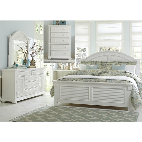 Liberty Summer House I Poster Four Piece Chest Bedroom Set In Oyster White