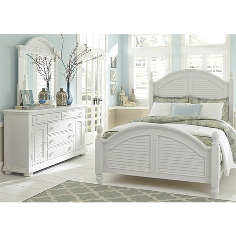 Liberty Summer House I Poster Three Piece Bedroom Set In Oyster White