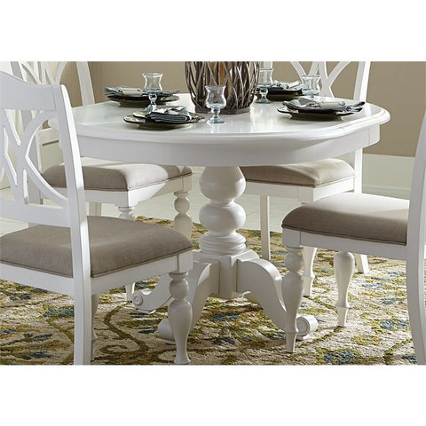 Liberty Summer House I Round Pedestal Table In Oyster White