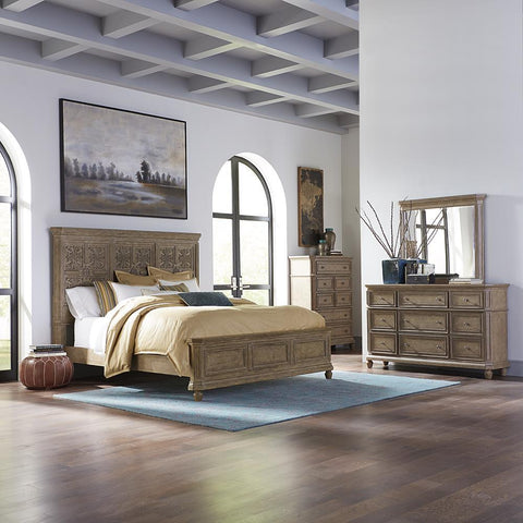 Liberty The Laurels King Opt California Panel Bed, Dresser & Mirror, Chest