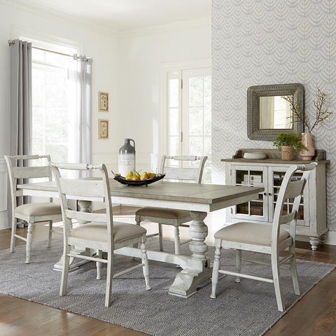 Liberty Whitney 5 Piece Trestle Table Set