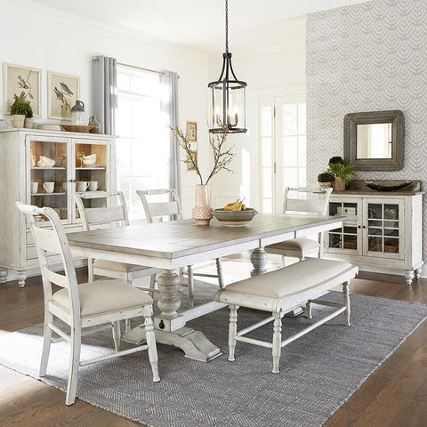 Liberty Whitney 6 Piece Trestle Table Set